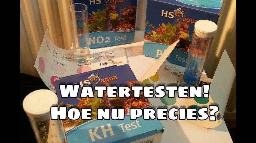 Waterwaarden testen met druppeltesten, hoe precies? Ph/Kh/No2 8