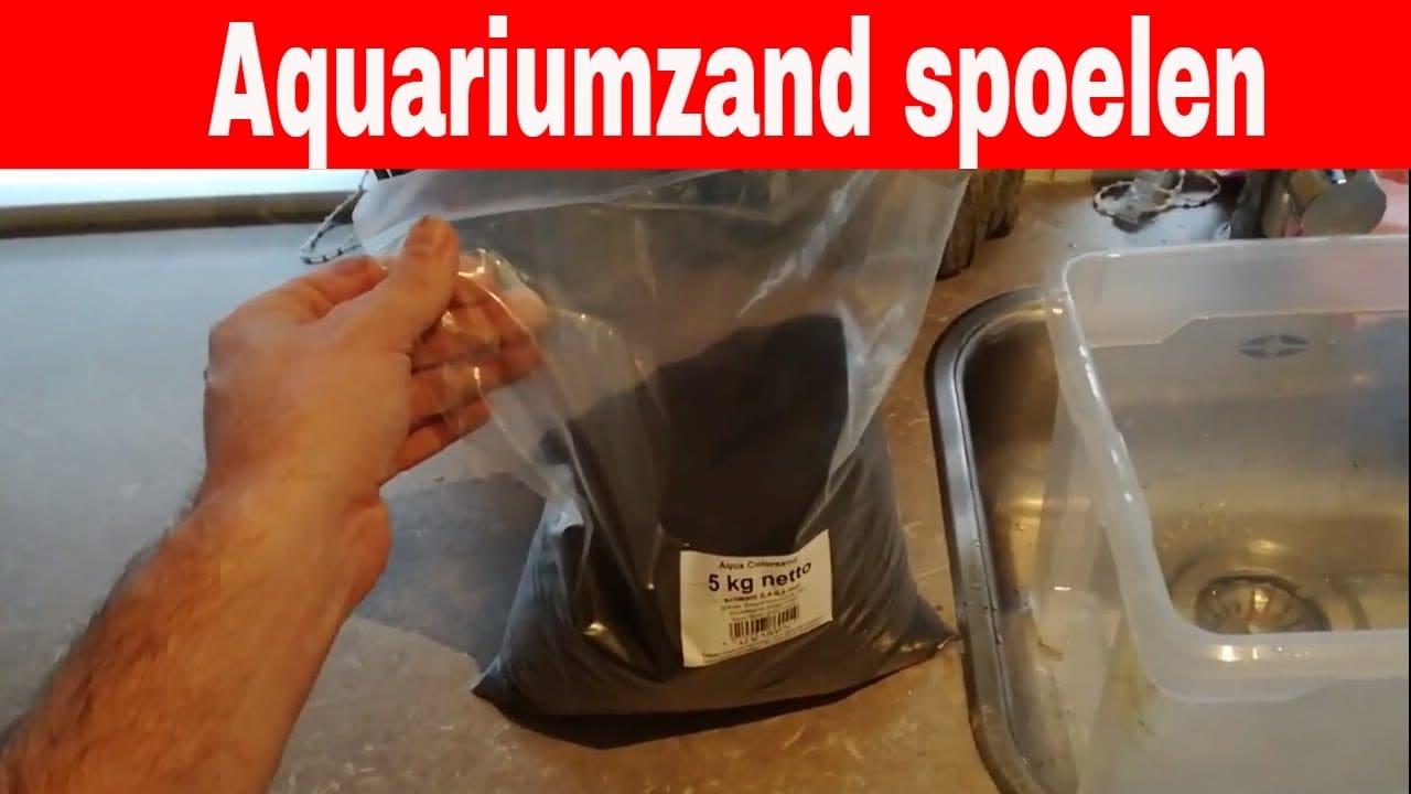 Aquarium zand spoelen 5