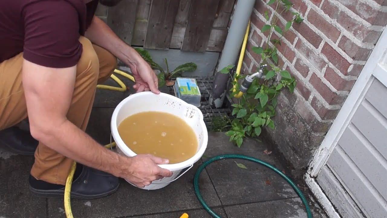 Filterzand spoelen 4