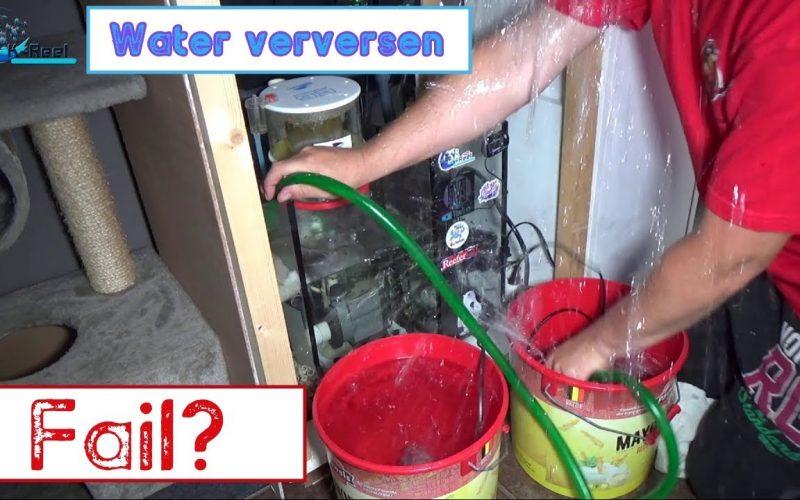 Zeewater waterwissel 14